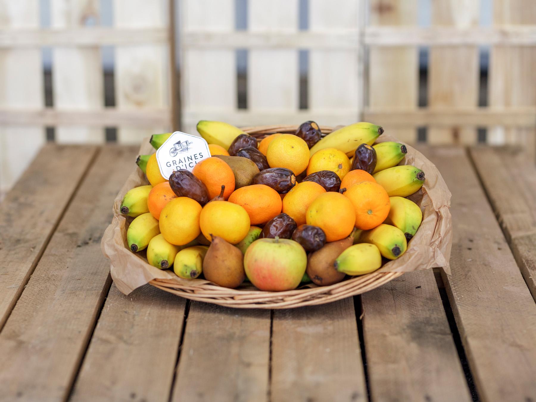 Corbeille fruits entreprises Graines d'ici Nantes