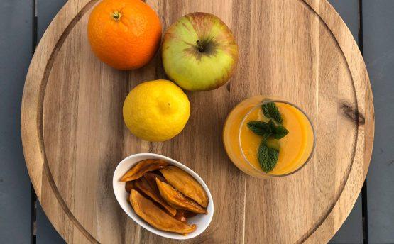 Recette smoothie mangue lait coco fait maison bon pour la santé - Livraison de fruits et légumes BIO - Graines d'ici - Nantes