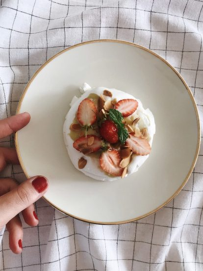 Mini pavlova aux fraises