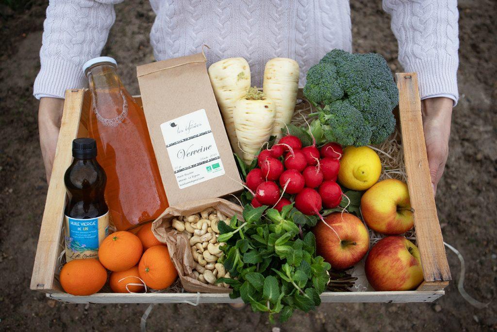 Livraison de paniers de fruits de légumes et de produits d'épicerie bio locaux et de saison à Nantes et sa métropole Graines d'ici