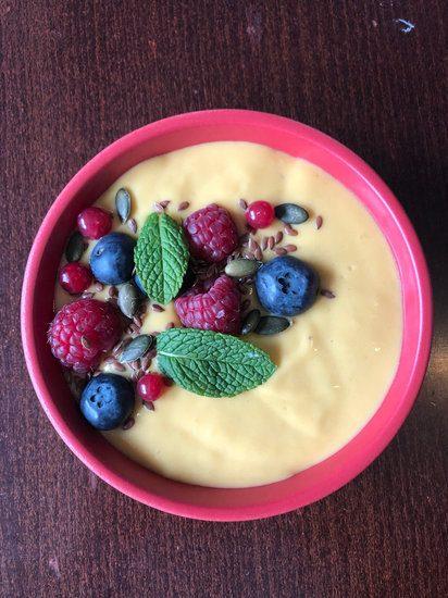 recette crème mangue banane